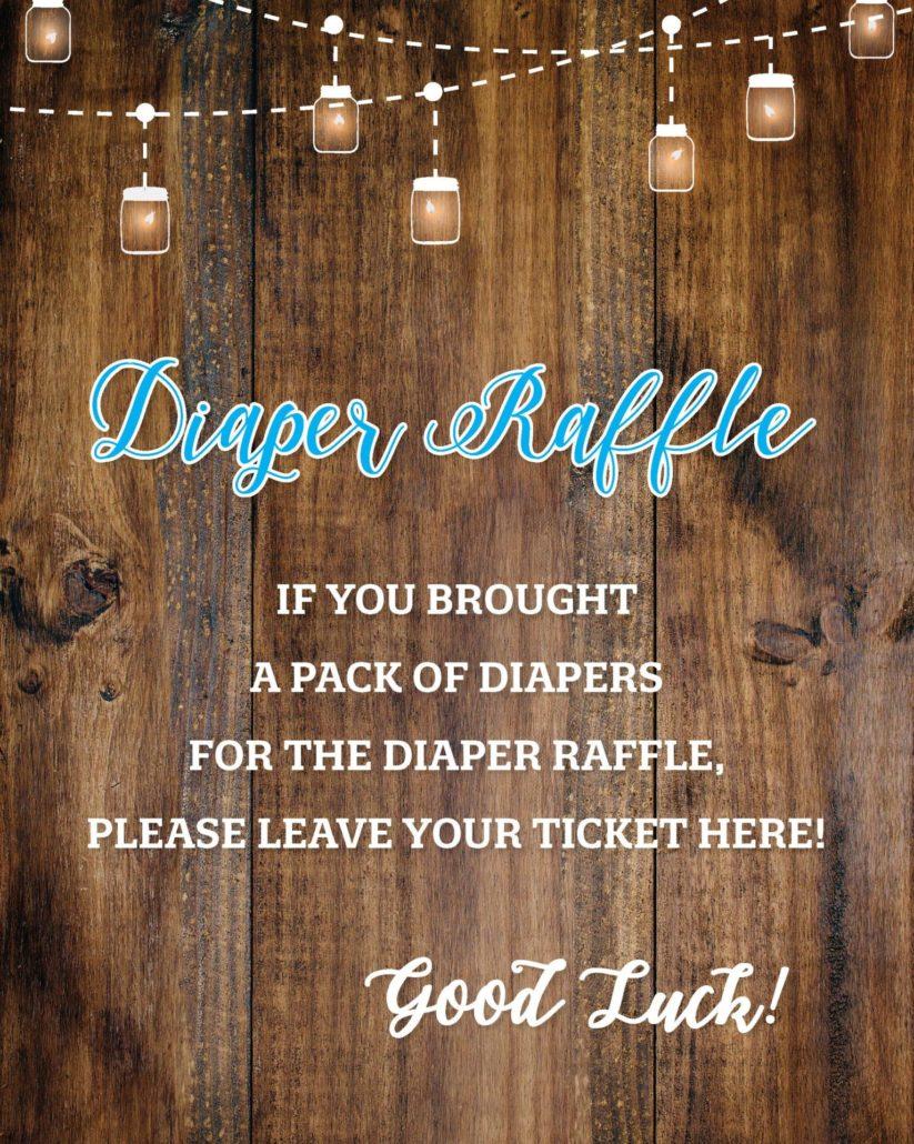 Diaper Raffle Poster