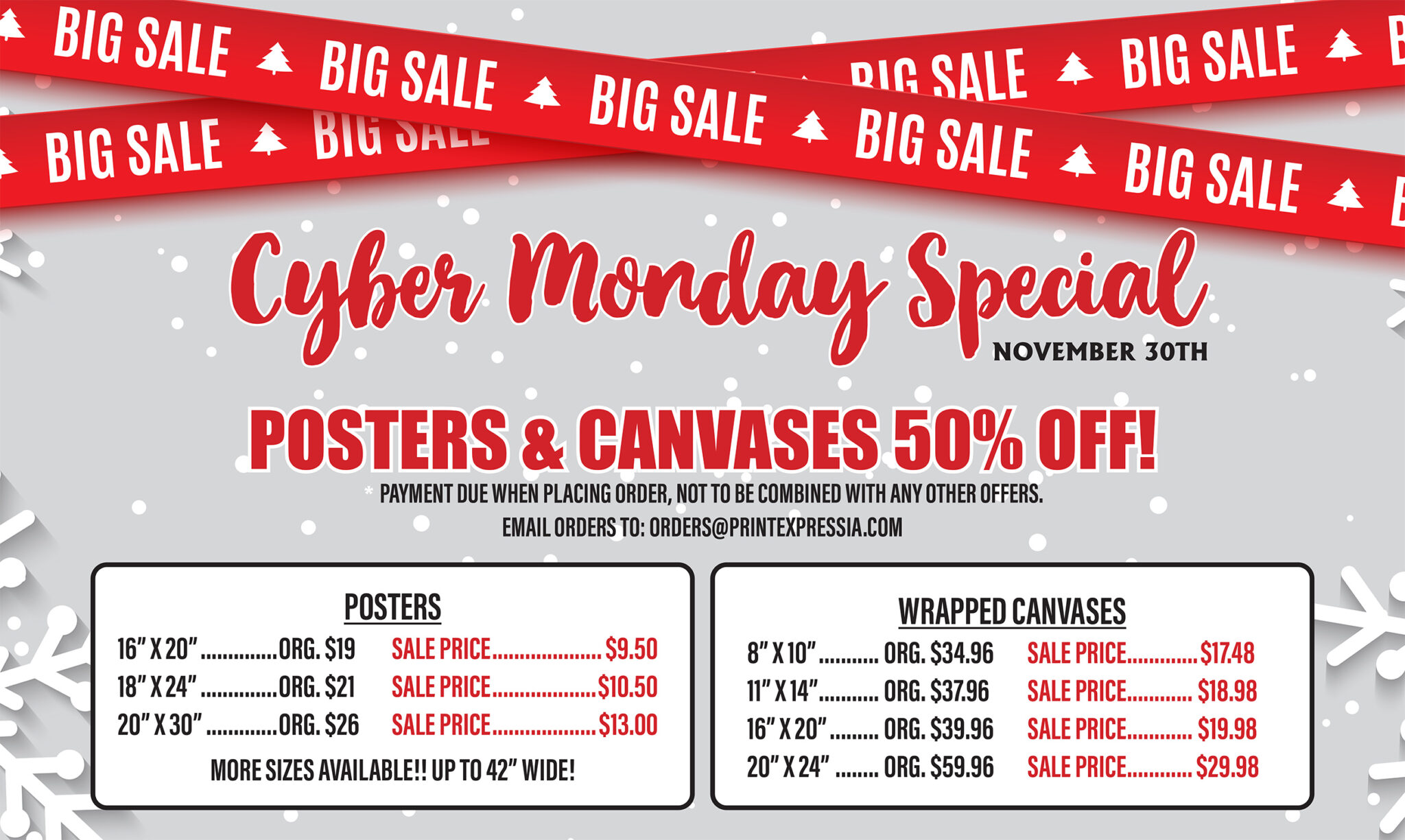 CYBER MONDAY pricing